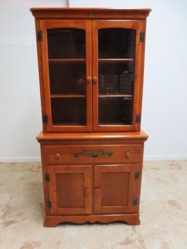 Maple China Cabinet Ebay