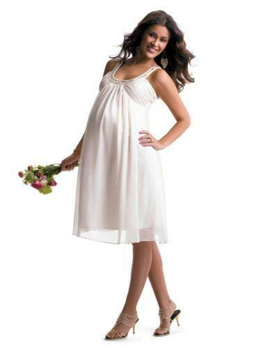 Plus size maternity wedding dress ebay for Plus size maternity wedding dresses