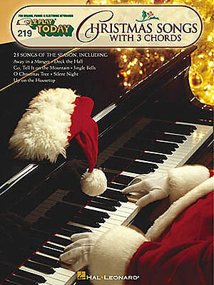 E-Z Play Christmas Songs With 3 Chords Learn to Play EASY Piano Music Book ()