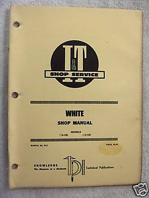 It White 2-135 2-155tractor Shop Manual