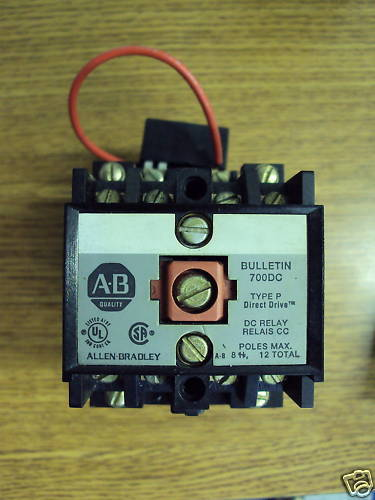 A B Allen Bradley 24 vdc Relay Contactor 700DC-P400Z24