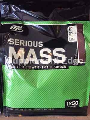 Optimum Nutrition Serious Mass 12Lb Mass Gainer  Pick Flavor   Free Shipping