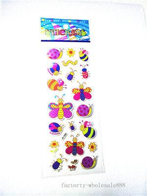 1 sheet Butterfly caterpillar stickers kids Teacher Kids' Crafts Paper gift A
