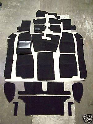 MGB 1962-1967 BLACK LOOP INTERIOR CARPET KIT with 20 ounce padding ()