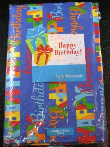 Birthday Tablecloth Vinyl Ebay