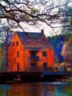 Houses Blue Art Posters