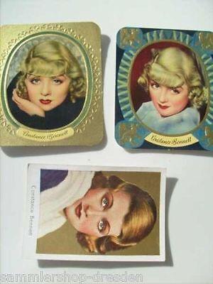 FM-12254 Bennett, Constance 3 x Trading card original Sammelbilder und Farbe und