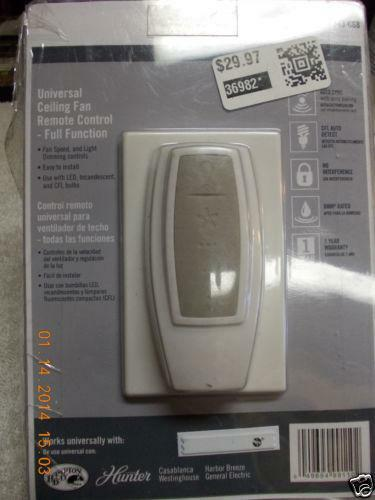 Hunter Fan Remote Ebay