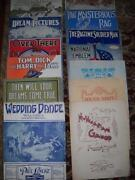 Antique Sheet Music Lot
