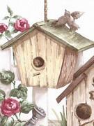 Birdhouse Wallpaper Border
