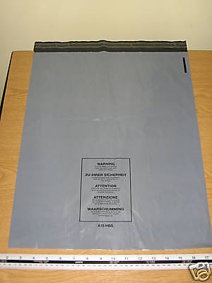100 x Large Grey Mail Bags Strong Parcel Sacks approx 400mm x 500mm 16x 20 A15