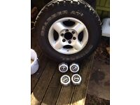 Nissan Navara Alloys With General Grabber At2'S 255/70/16 also fit Pajero,Hilux,Terano.Patrol,L200.