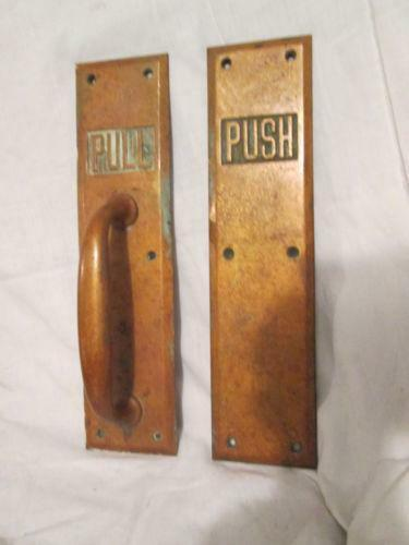 Door push plate ebay for Door push plates