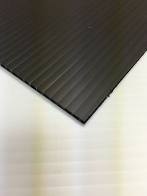 6mm Black 18 X 24 2 Pack Corrugated Plastic Coroplast Sheets Sign