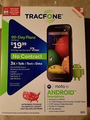 New Motorola Moto E Android Smartphone For Tracfone W  Triple Minutes