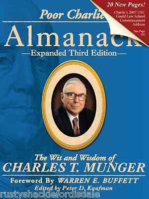 Poor Charlies Almanack   Signed   Charlie Munger   Berkshire Hathaway   New