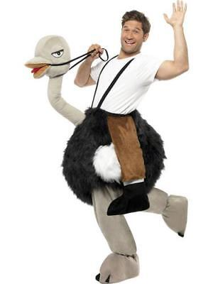 Ostrich Bird Rider Fancy Dress Adult Animal Bernie Clifton Ride On Emu Costume (Man On Ostrich Costume)