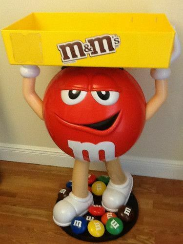 BRAND NEW M&M Red Character Candy Store Display with Storage Tray  FREE SHIPPING
