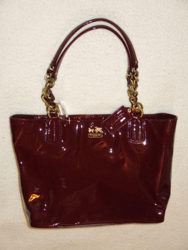 Burgundy Patent Handbag Ebay