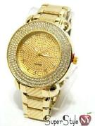 Gold Hip Hop Watch