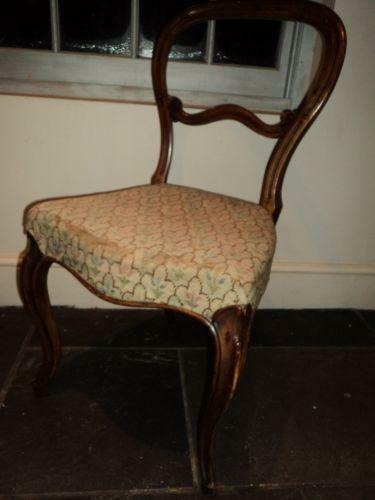 Victorian Upholstered Chair Ebay
