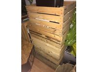 6 wooden crates (different sizes)