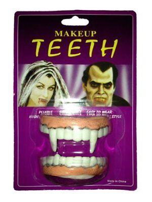 High Quality Vampire Make-Up  Wearable Pliable TEETH Halloween Fancy Dress - Wearable Halloween Makeup