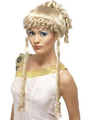 Damen blond Griechische Göttin Kostüm Perücke Verkleidung Zubehör Party Toga