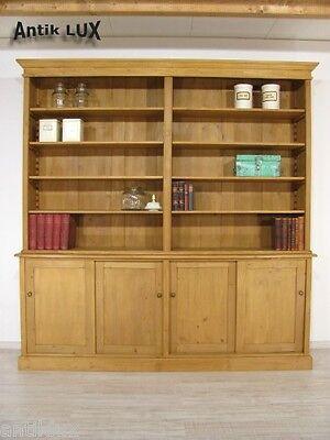 große Bibliothek Bücherschrank in Weichholz, Ladeneinrichtung Regal Schrank
