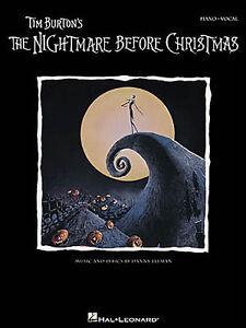 Tim Burton The Nightmare Before Christmas Learn PIANO Guitar PVG Music Book