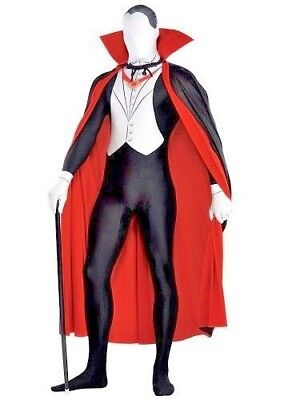 Vampire Party Suit Dracula Fancy Dress Outfit Halloween Adult XXL HALF RRP