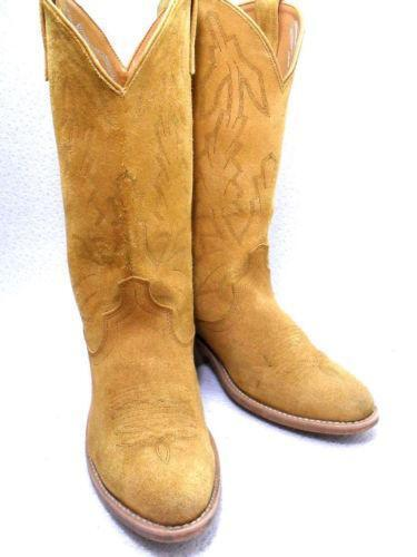 Mens Roughout Cowboy Boots Ebay