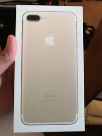 Brand new Apple iPhone 7 Plus 32gb with box sim free gold