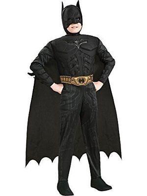 Batman Boy Costume (Batman Muscle Dark Knight Costume Child L Large 12-14 Kids Boy)
