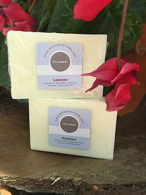 Honest All Natural Lotion Bar with coconut oil, shea butter, beeswax, Lavender