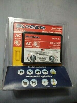 New - Blitzer .5 Mile 10 Acre Range Electric Fence Controller - Free Shipping