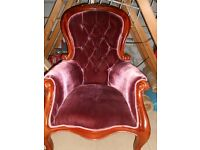 french / italian Rococo Style armchairs ( 2 avail)