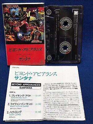 Santana Beyond Appearances Japan Cassette Tape 28KP 1208 1985 Val Garay F/S