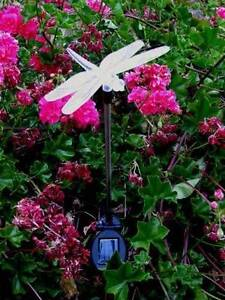 6x Outdoor Dragonfly Solar Garden Color LED Lights Athelstone Campbelltown Area Preview