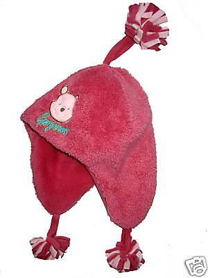 NEU! Disney Fleece-Mütze Winnie the Pooh Ohrenschutz pink Gr.51 cm