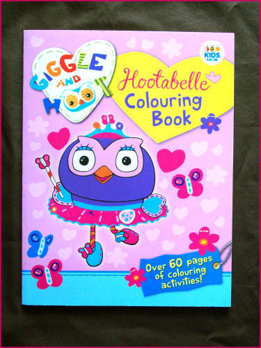 HOOTABELLE GIGGLE & HOOT - ACTIVITY & COLOURING IN BOOK 64pg Colour ABC KIDS New