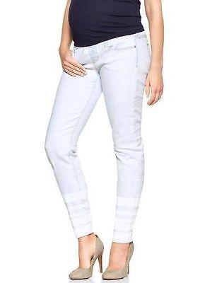 Gap Maternity NWT Light Denim Striped Always Skinny Demi Panel Jeans 31 / 12 $70