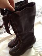 Ladies Brown Boots Size 5/6