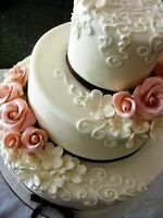 Wedding cakes and cupcakes.