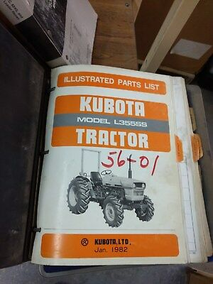 Kubota L355ss Tractor Illustrated Parts List