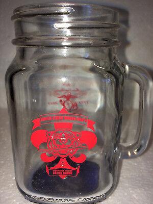 USMC Mason Jar Mug: Baton Rouge, Louisiana 240th Marine Corps Birthday LSU Tiger