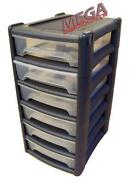 4 Drawer Plastic Storage