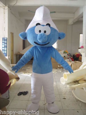 Professional selling High quality Smurf mascot costume Adult Size Halloween  (Smurf Halloween Costume Adults)
