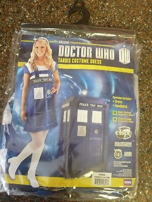 Doctor Who Women's Tardis Dress Costume Phone Booth NEW Dr.