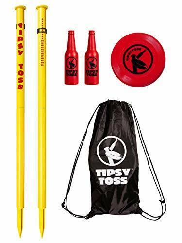 Tipsy Toss Game Set - Flying Disc Bottle Drop Yard Game